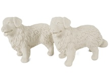 Picture of Bernese Mountain Dog Mini Unglazed Handmade Unpainted Ceramics Cruet Set