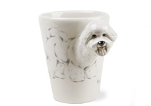 Picture of Bichon Frise Handmade 8oz Coffee Mug White