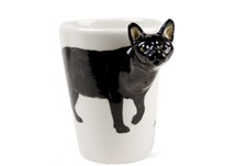 Picture of Black Cat 8oz Black Handmade Coffee Mug