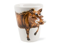 Picture of Boar Handmade 8oz Coffee Mug Brown