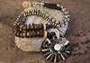 Picture of Bohemian Inca Lapis Lazuli Pearl Beaded Necklace Black