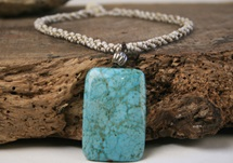 Picture of Bohemian Inca Turquoise Beaded Necklace Emerald