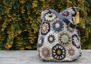 Picture of Bohemian Crochet Knitted Large Handbag Kaleidoscopic