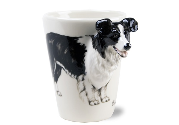 Picture of Border Collie Handmade 8oz Coffee Mug Black
