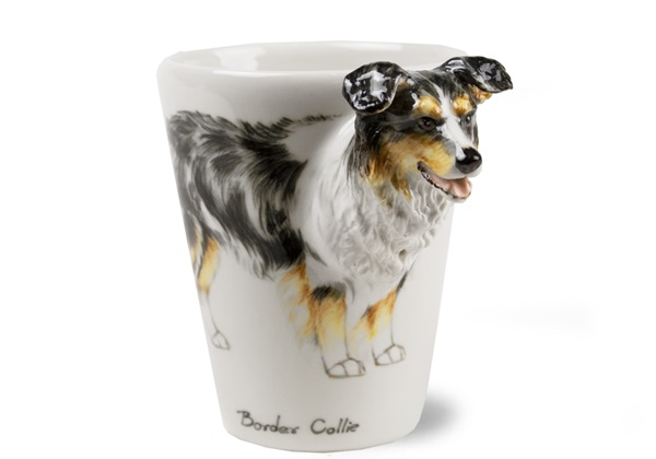 Picture of Border Collie Handmade 8oz Coffee Mug Tricolour