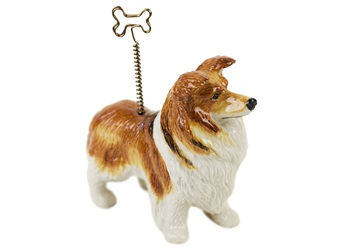 Picture of Border Collie Handmade Mini Picture Holder Red Merle