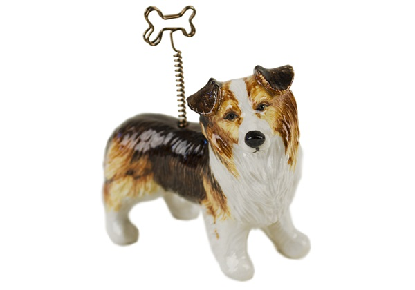 Picture of Border Collie Handmade Mini Picture Holder Tri Coloured