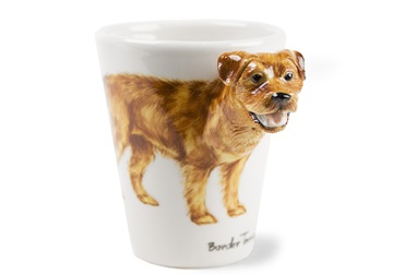 Picture of Border Terrier Handmade 8oz Coffee Mug Tan