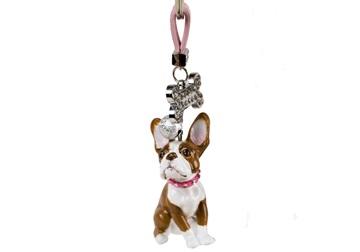 Picture of Boston Terrier Handmade Mini Key Ring Brindle