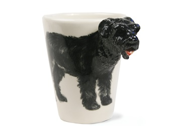 Picture of Bouvier Des Flandres Handmade 8oz Coffee Mug Black