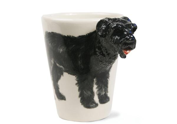 Picture of Bouvier Des Flandres Handmade 8oz Coffee Mug Black