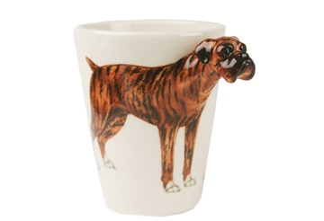 Picture of Boxer Handmade 8oz Coffee Mug Brindle