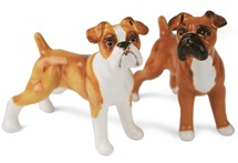 Picture of Boxer Handmade Mini Cruet Set Fawn