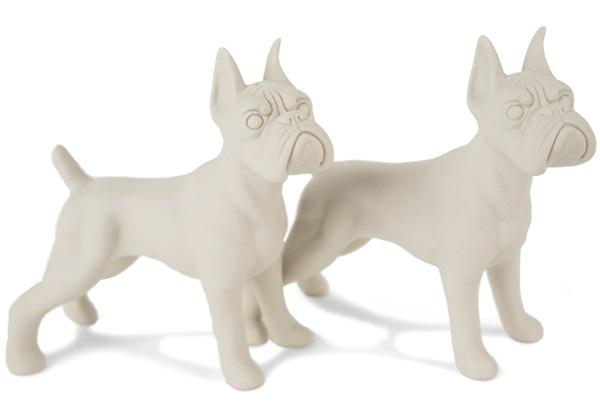 Picture of Boxer Handmade Unpainted Ceramics Mini Unpainted Cruet Set Unglazed