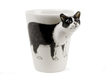 Picture of British Short Hair Handmade 8oz Coffee Mug Black And White