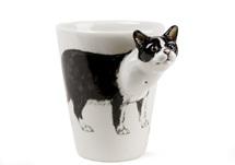 Picture of British Short Hair Handmade 8oz Coffee Mug Black and White
