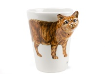 Picture of British Short Hair Handmade 8oz Coffee Mug Cinnamon