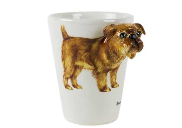 Picture of Brussels Griffon Handmade 8oz Coffee Mug Tan
