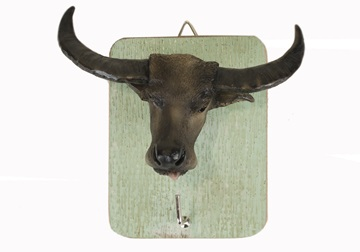 Picture of Buffalo Handmade Rustic Single Wall Hook Tan