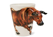 Picture of Bull Handmade 8oz Coffee Mug Brown