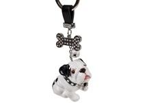 Picture of Bulldog Handmade Mini Key Ring White and Black
