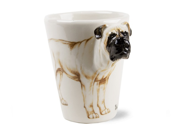 Picture of Bull Mastiff Handmade 8oz Coffee Mug Fawn