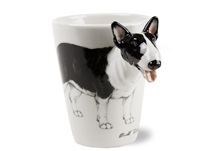 Picture of Bull Terrier Handmade 8oz Coffee Mug Black
