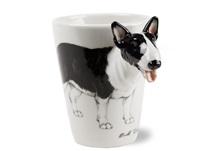 Picture of Bull Terrier Handmade 8oz Coffee Mug Black