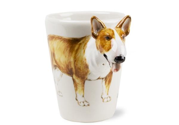 Picture of Bull Terrier Handmade 8oz Coffee Mug Brown