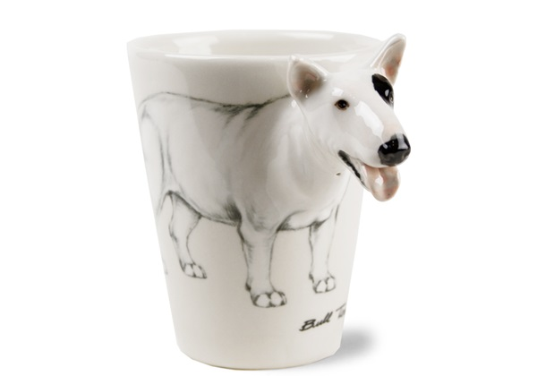 Picture of Bull Terrier Handmade 8oz Coffee Mug White