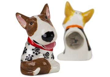 Picture of Bull Terrier Handmade Mini Fridge Magnet Fawn