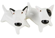 Picture of Bull Terrier Handmade Mini Cruet Set White And Black