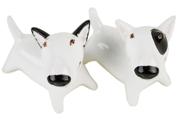 Picture of Bull Terrier Handmade Mini Cruet Set White And Black