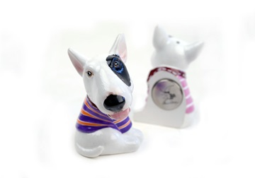 Picture of Bull Terrier Handmade Mini Fridge Magnet White