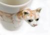 Picture of Burmese Cat Handmade 8oz Coffee Mug Light Brown