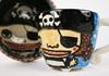 Picture of Calico Jill Handmade Ceramic 8oz Coffee Mug Blue Monochrome