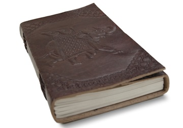 Picture of Camel Hide Handmade Handbound A5 Journal Elephant Plain