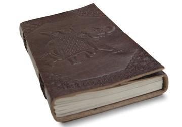 Picture of Camel Hide Handmade Handbound A5 Journal Elephant Plain