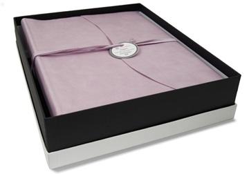 Picture of Capri Handmade Italian Leather Wrap Large Photo Album Salmon