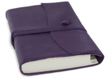 Picture of Capri Handmade Italian Leather Wrap Small Address Book Aubergine