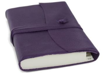 Picture of Capri Handmade Italian Leather Wrap Small Address Book Aubergine