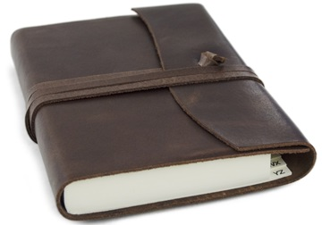 Picture of Capri Handmade Italian Leather Wrap Small Address Book Chocolate