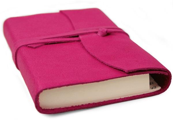 Picture of Capri Handmade Italian Leather Wrap Small Address Book Fuchsia