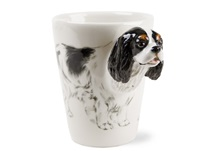 Picture of Cavalier King Charles Handmade 8oz Coffee Mug Black and White