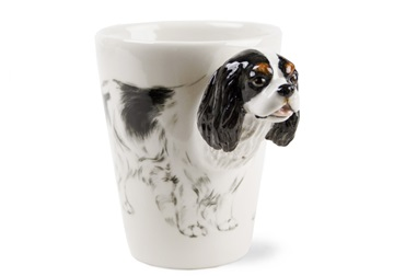 Picture of Cavalier King Charles Handmade 8oz Coffee Mug Black and White