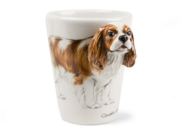 Picture of Cavalier King Charles Handmade 8oz Coffee Mug Blenheim
