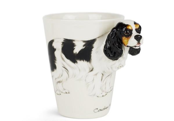 Picture of Cavalier King Charles Handmade 8oz Coffee Mug Tri Colour