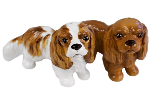 Picture of Cavalier King Charles Handmade Mini Cruet Set Fawn