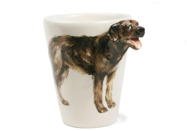 Picture of Chesapeake Bay Retriever Handmade 8oz Coffee Mug Dark Brown