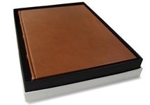 Picture of Chianti Handmade Italian Leather Bound A4 Journal Saddle Brown Plain